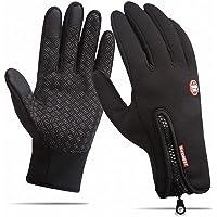 TCCSTAR Cycling Gloves,Touchscreen Waterproof Winter Warm Bicycling Bike Gloves Running, Hiking, Clambing, Skiing, Cycling, Driving Men & Women