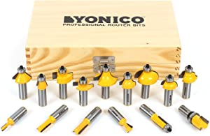 Multi-Profile fifteen-pieces 17150 Router Bit Set by Yonico