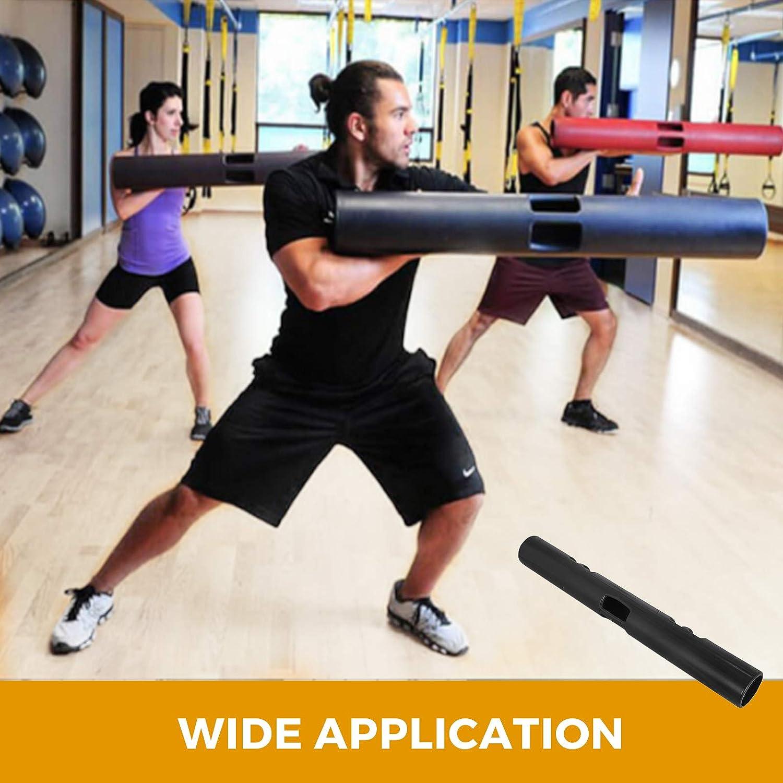 BuoQua Functional Training Tube Fitness Fitness Tamburo di Gomma Allenamento con Pesi Vipr Training Tube Sollevamento della Palestra Muscolo Portatile 4kg Nero
