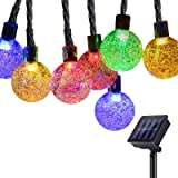 GreenClick Solar String Lights Outdoor, 25ft 40 Led String Lights 8 Modes Crystal Ball Waterproof Solar Powered String…