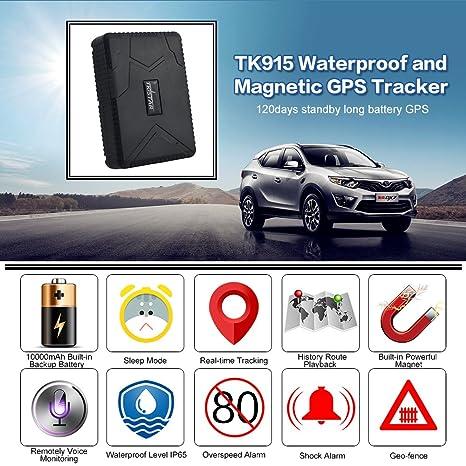 GPS Tracker localizador GPS Dispositivo de Seguimiento en Tiempo Real Vehículo Automóvil con Camión para Auto GPS Sin Instalación con: Amazon.es: ...