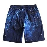 Mens Ultra Quick Dry Nebula Fashion Board Shorts