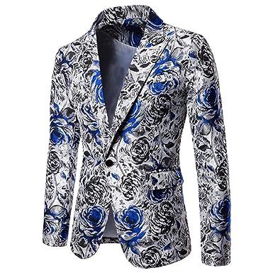 QXPORV Suit Blazer Jacket Traje de Hombre Sexy Vestido de Rosa ...