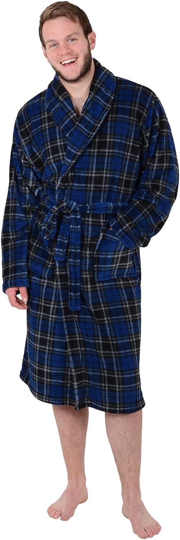 Aidan Lewis Mens Coral Fleece Bath Robe Tie Belt Dressing Gown Housecoat Bathrobe
