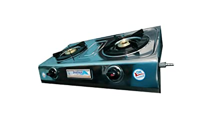 Butterfly LPG Stove, 2 Burners, Silver (L3450A00000)