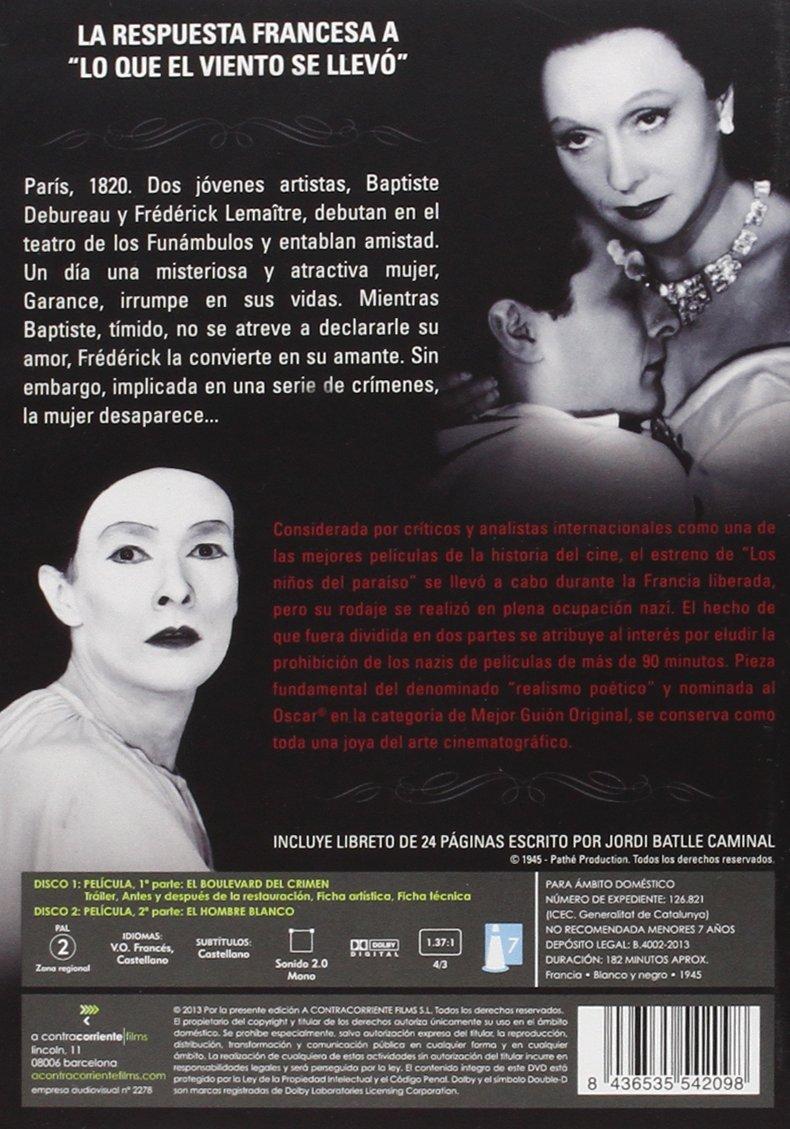 Amazon.com: Los Niños Del Paraíso: Pierre Brasseur, Arletty, Marcel Herrand, Jean Louis Barrault: Movies & TV