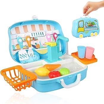 Aovo Kitchen Sink Toy with Running Water