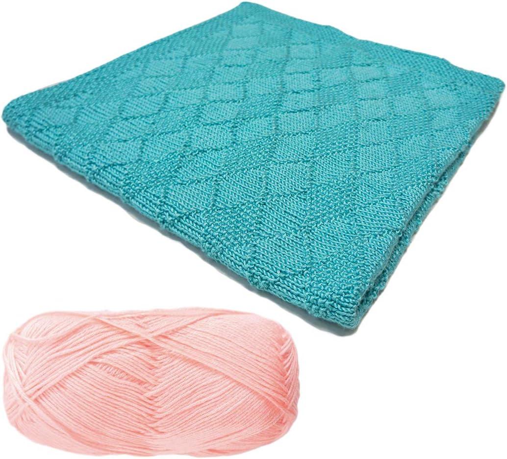 Bella Diamond Baby Blanket Knitting Kit 305-Pink