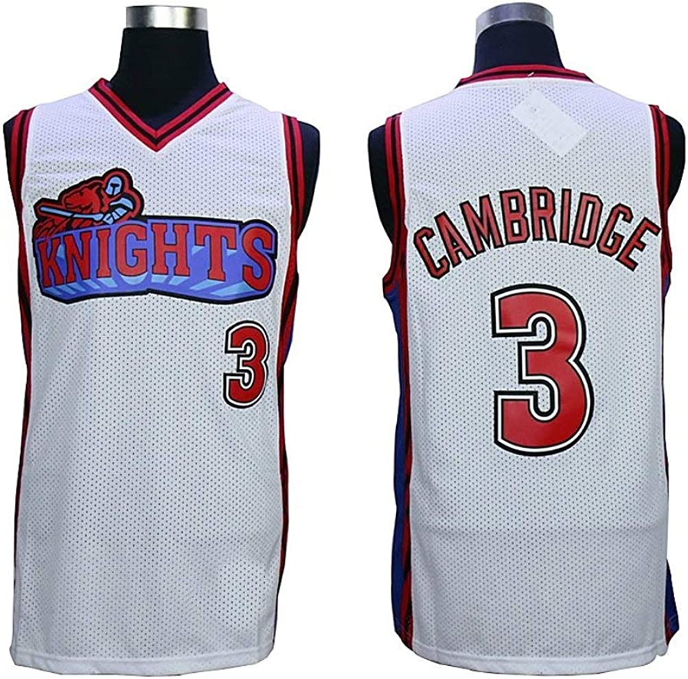 MVG ATHLETICS Cambridge #3 Knights Throwback Basketball Jersey Embroidery Small-XXL
