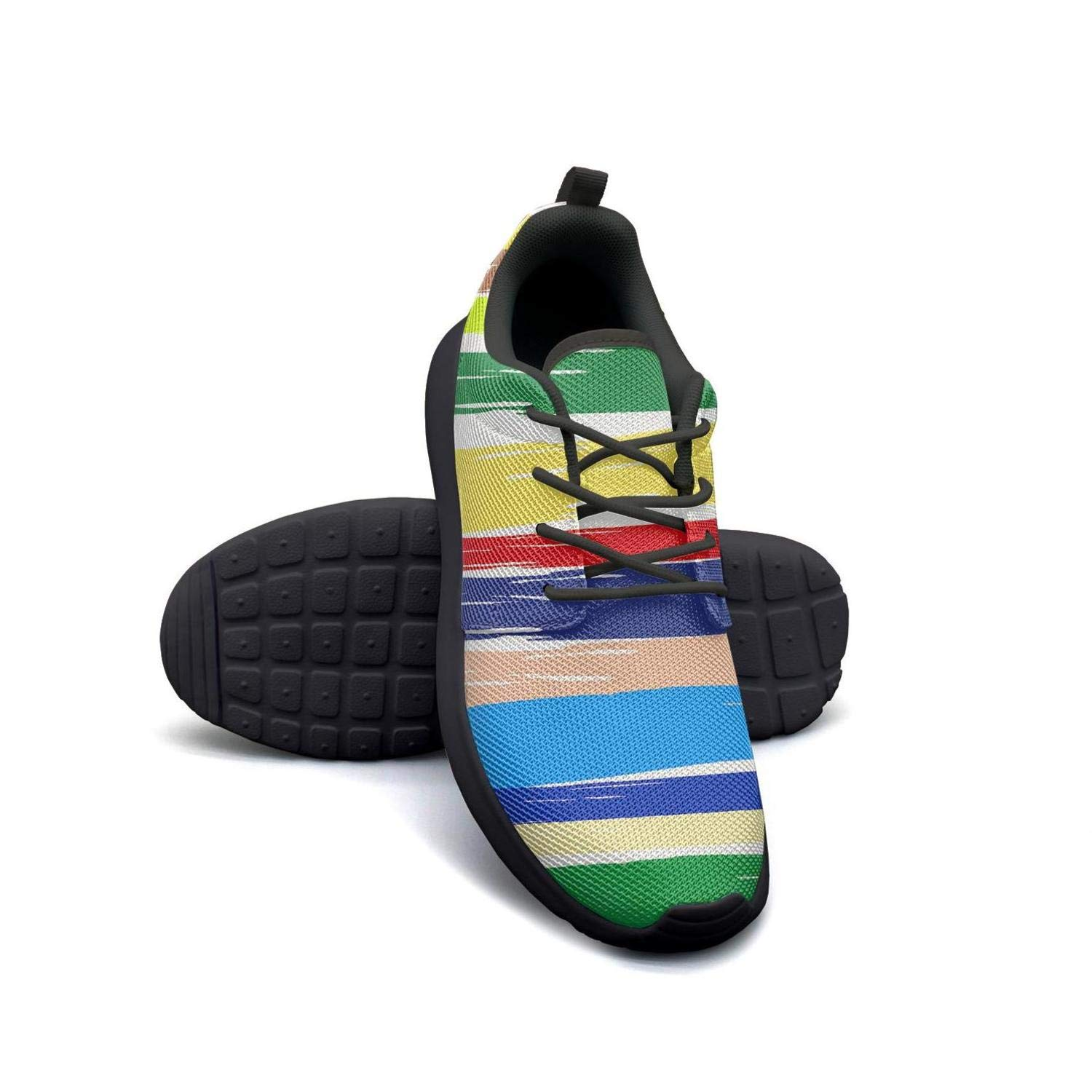 ipdterty Wear-Resistant Sports Sneaker Striped Texture Allover surf Gay Pride Flag Mens Soft Athletic Running Shoes