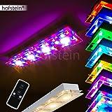 Lngliche Deckenleuchte Severn Mit RGB LED Farbwechsler Aus Metall Chrom Fr Wohnzimmer