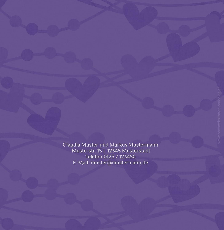 Kartenparadies Kartenparadies Kartenparadies Hochzeitskarte Einladung Im Zeichen der Liebe, hochwertige Einladung zur Heirat inklusive Umschläge   10 Karten - (Format  145x145 mm) Farbe  DunkeltiefBlau B01N5RIGDE | Stilvoll und lustig  | Großartig  | Moderner Modus  29145b