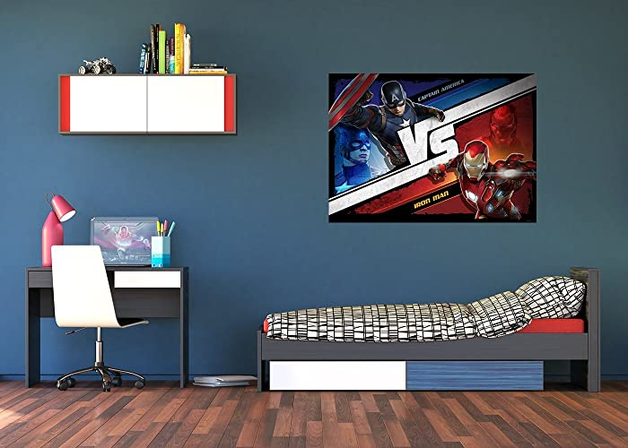 Good WallandMore Marvel Avengers Wall Decals Murals For Boy Room Decor 63u0026quot;  W By 45u0026quot;