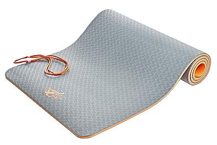 SweetDreamers Sport Esterilla de Yoga / Colchoneta Gimnasia / Extra Gruesa: 6 y 10mm / Ecológica / 183 x 61cm / Material de TPE / Antideslizante