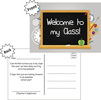 8 Welcome to My Class School Cards Teacher Parents Children