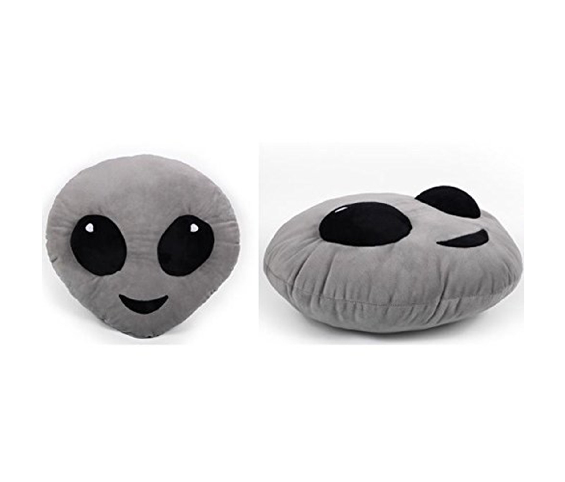 Mozlly Multipack - Top Trenz Inc Mojicon Grey Alien Emoji Large Throw Plush Pillow - 14 inch x 14 inch - Novelty Home Décor (Pack of 6) - Item #S135006_X6
