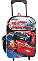 """Disney Pixar Cars 16"""" Large Rolling Backpack"""