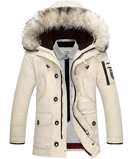 SZAWSL Herrens Winter Jacke Daunenjacke Outdoor Steppjacken