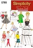 Simplicity 5785 - Patrones de costura para hacer ropa de muñeca (talla única)