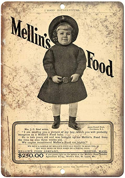 Mellins Food Boston Vintage Placa Vintage Metal Cartel de ...