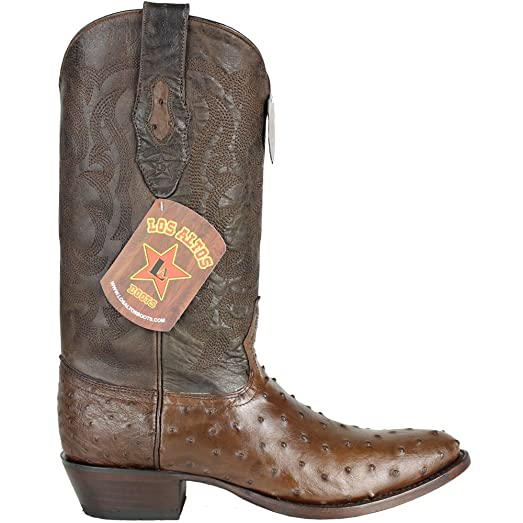 Genuine CROCODILE BELLY BROWN SNIP Toe Los Altos Men's Western Cowboy Boot 194RCB16