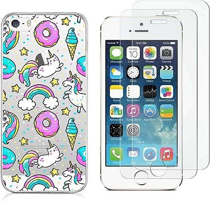 Cover iPhone SE / 5S / 5 Unicorno con Gelato Morbido Silicone Gel ...