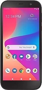 TracFone Blu View 2 4G LTE Prepaid Smartphone (Locked) - Black - 32GB - Sim Card Included - CDMA (TFBLB130DCP)
