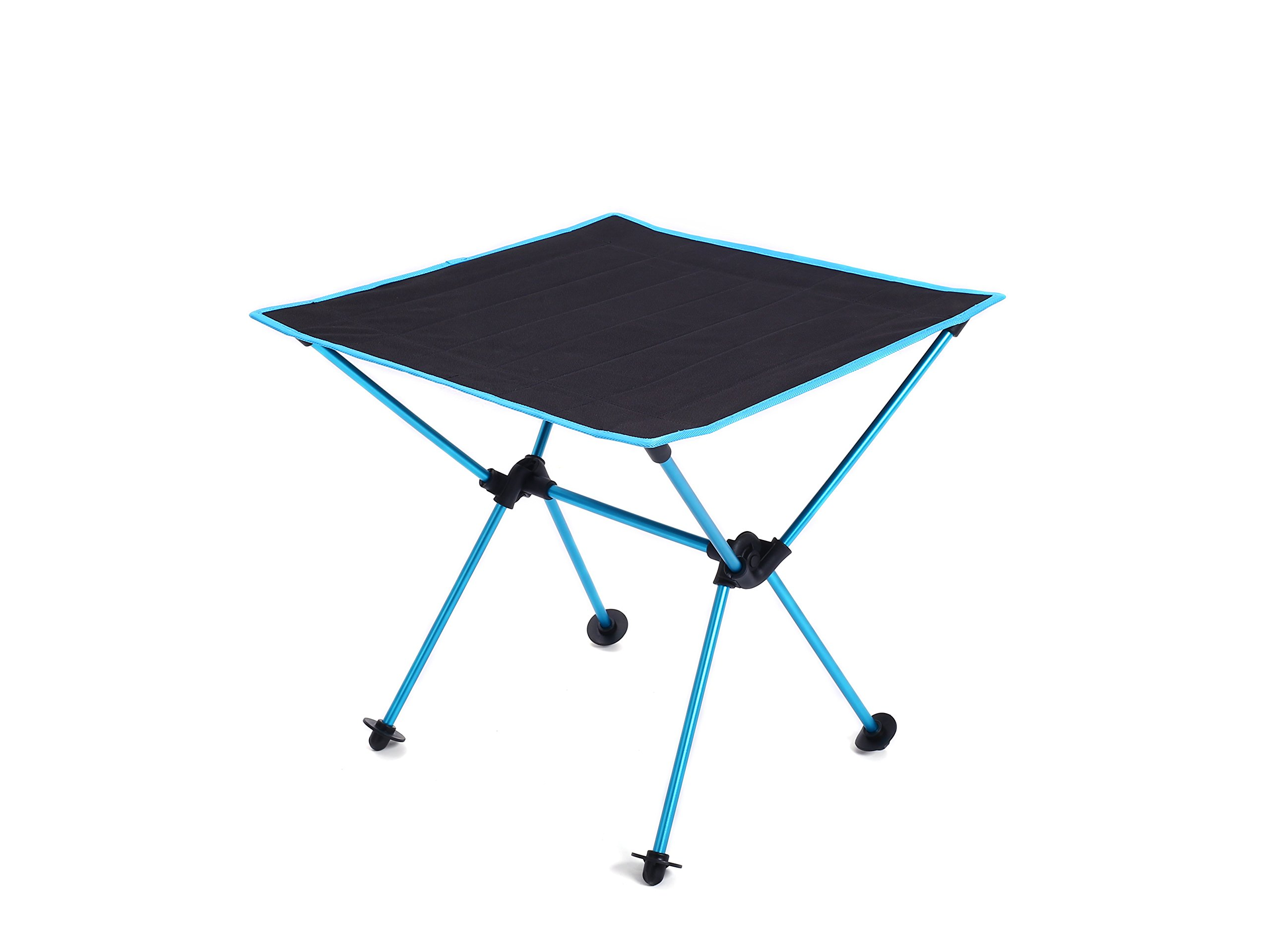 MUMAI Portable Lightweight Folding Table with Carry Bag Waterproof Oxford cloth Aluminum alloy Outdoor Camping BBQ Picnic Table (Light blue)