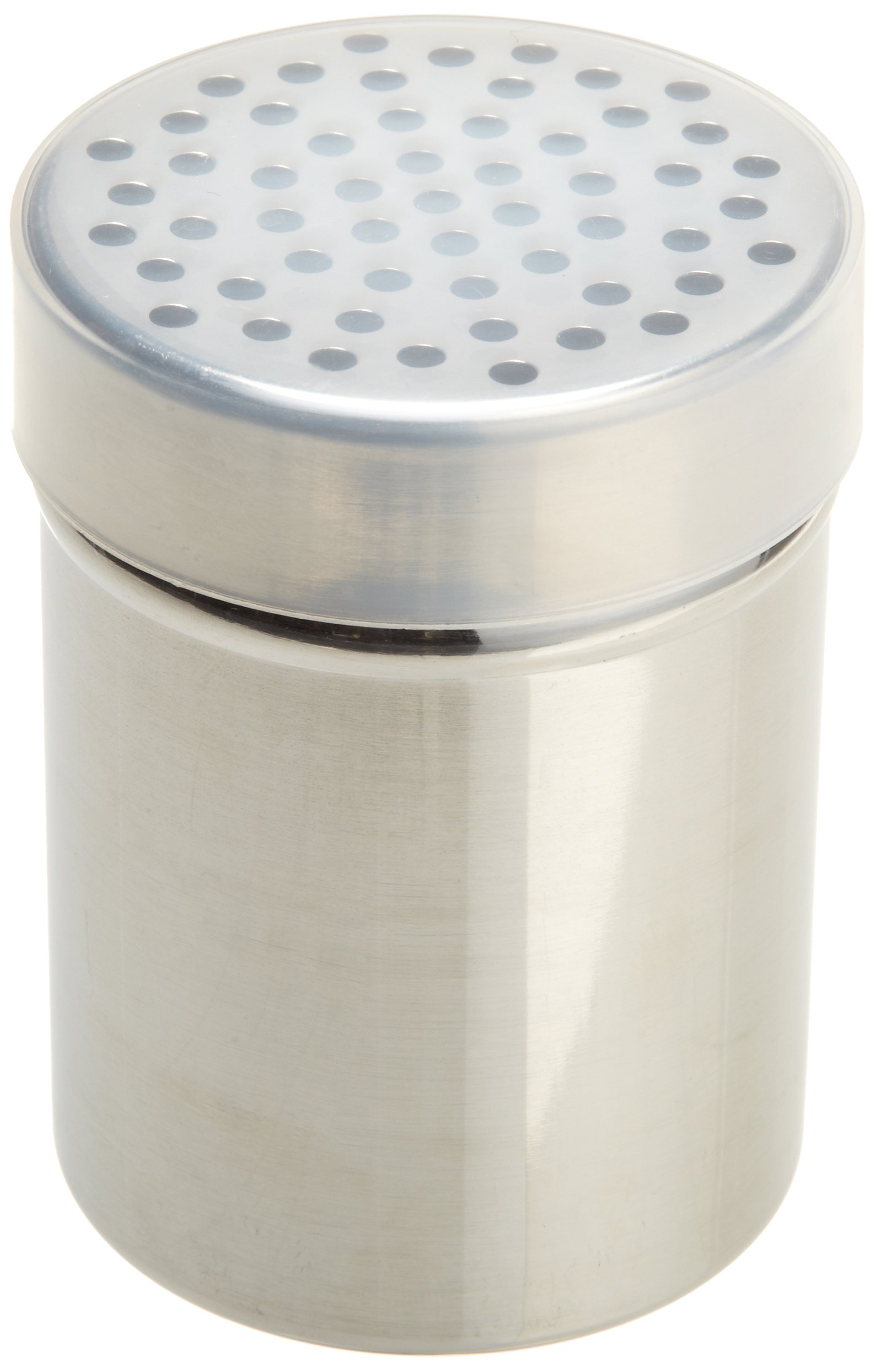 Ateco 1351 Stainless Steel Shaker, 10-ounce Capacity with Coarse Holes