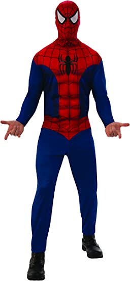 Marvel - Disfraz de Spiderman para hombre, Talla XL adulto ...