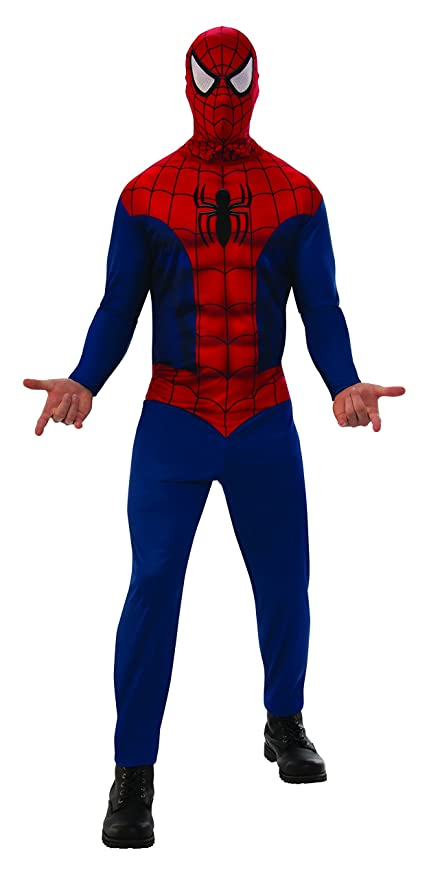 Marvel - Disfraz de Spiderman para hombre, Talla M adulto (Rubies 820958-M)
