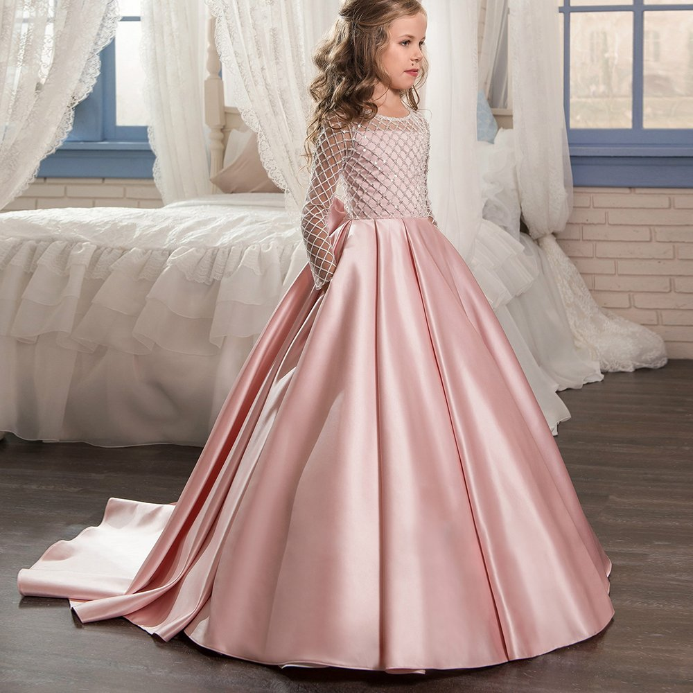 Amazon.com: AbaoSisters Christmas Fancy Flower Girl Dress Floor ...