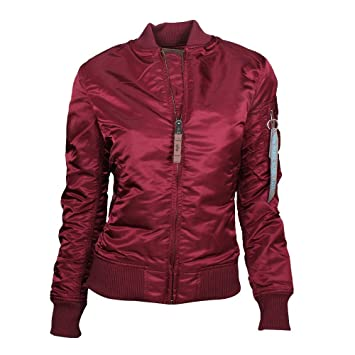 check out 3c2f9 799a6 Alpha Industries Damen Bomberjacke rot: Amazon.de: Sport ...