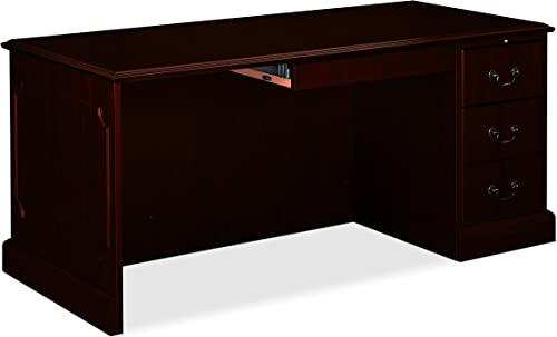 HON 94243NN 94000 Series 72 by 24 by 29-1 2-Inch Kneespace Credenza, Mahogany Frame Top