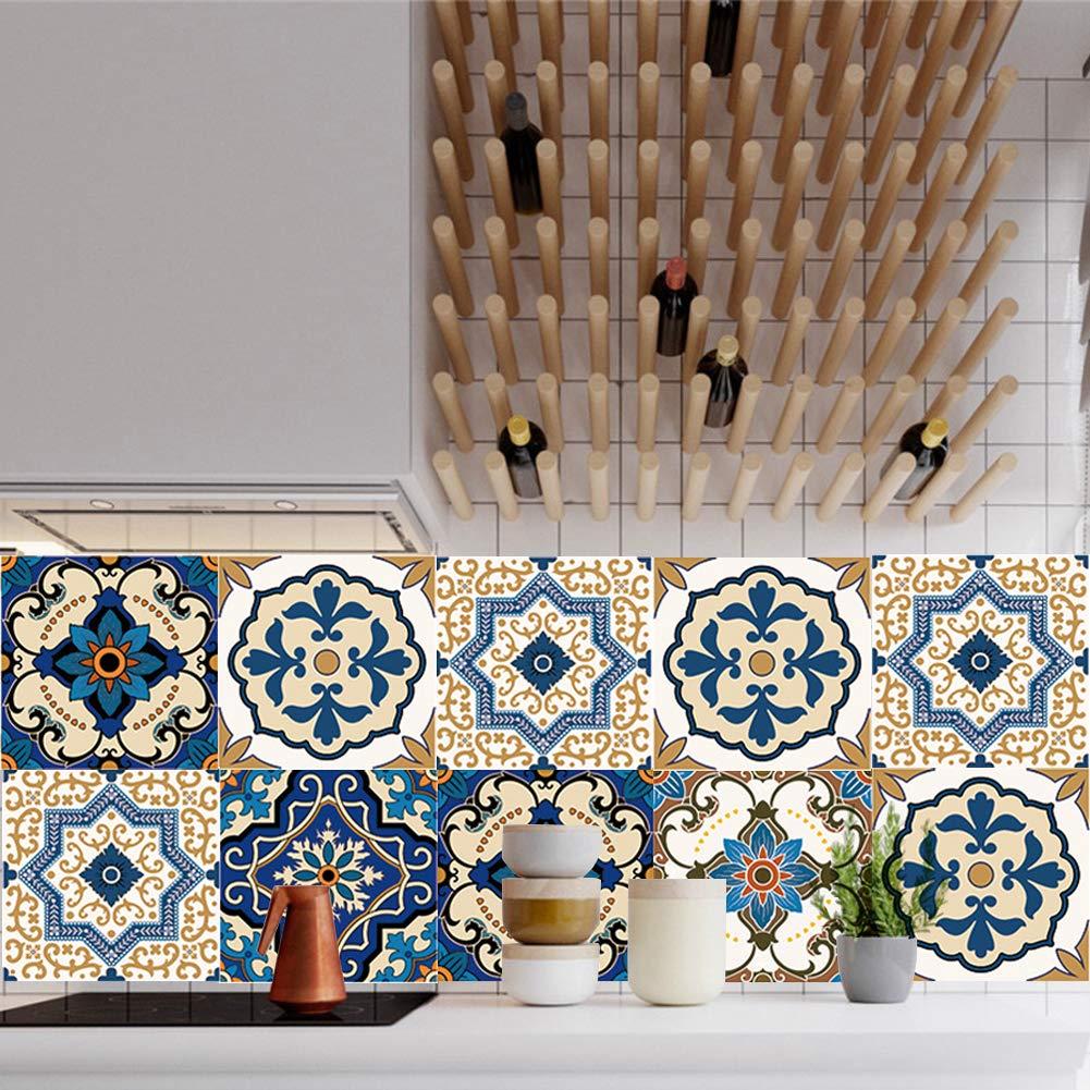 Extsud adesivi per piastrelle muro set da 10 pezzi wall for Adesivi mattonelle