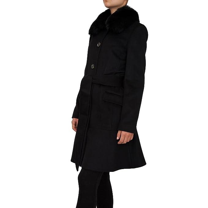 MICHAEL KORS - Cashmere Flounce Coat - Black: Amazon.es: Ropa y accesorios