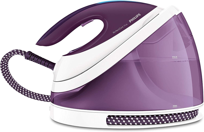 Philips PerfectCare Viva Plancha con generador de vapor GC7051/30 - Centro de planchado (2400 W, 5,5 bar, 2 L, 230 g/min, 120 g/min, Suela SteamGlide Plus)