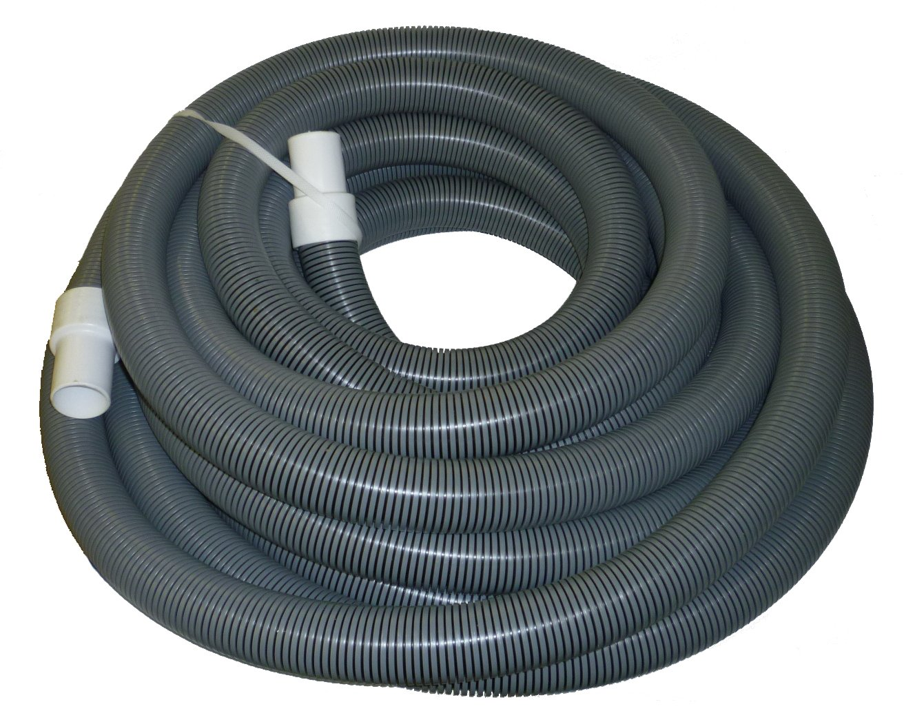 2'' x 50' Gray/Black I-Helix Commercial TM Vacuum Hose with White Cuffs