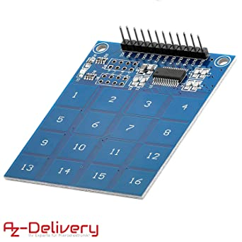 AZDelivery TTP229 modulo capacitivo de 16 canales con sensor ...