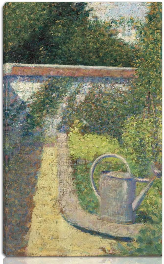 Berkin Arts Georges Seurat Stretched Giclee Print On Canvas-Famous Paintings Fine Art Poster-Reproduction Wall Decor Ready to Hang(The Watering Can Garden at The Raincy)#NK