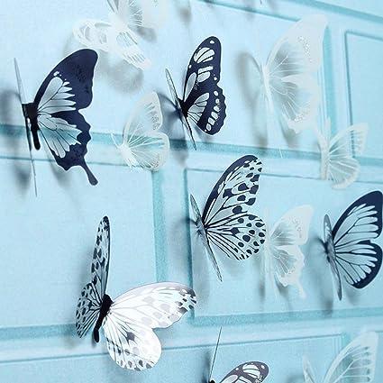 18X DIY 3D Butterfly Wall Stickers Art Decal PVC Butterflies Home Room Decor GA