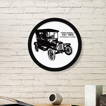 Amazon.com: Black Classic Cars Mechanical Pattern Art Painting ...