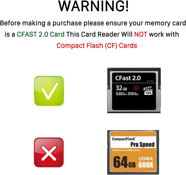 Cfast Kartenleser Byeasy Cfast 2 0 Card Reader Via Usb Computer Zubehör