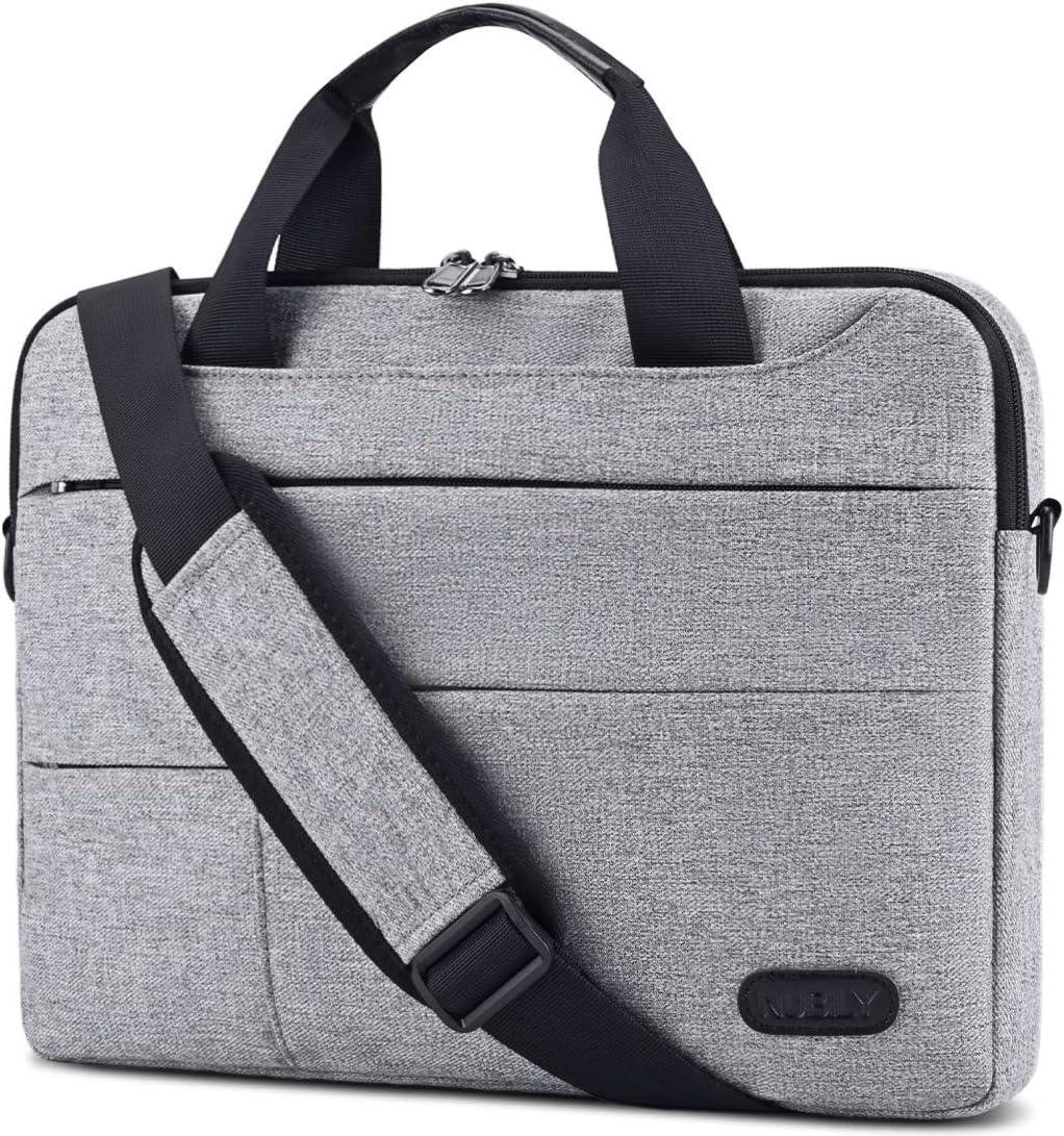 Laptop Bag for Men 13.3/14 inch Computer Sleeve Carrying Surface Laptop Case Water Repellent Briefcase Work Business Messenger Shoulder Bag Tablet Handle Case, Notebook Grey