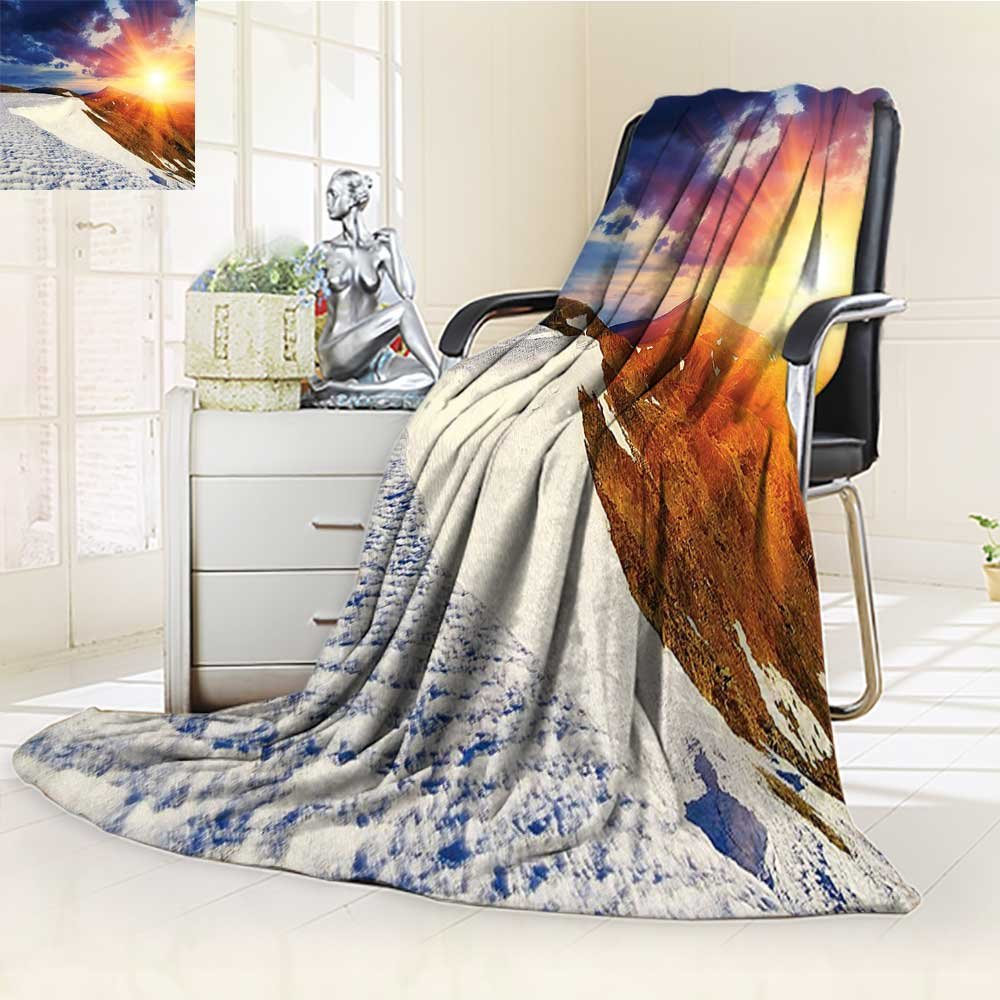 AmaPark Digital Printing Blanket Sunshine Clouds and Valley Sun Divider in College Summer Quilt Comforter