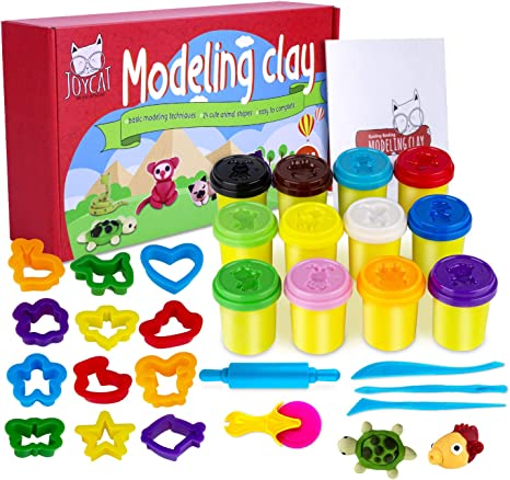 Kids Art Craft Toy Set FUN PLAY DOH 10 Pack Of Colour Modeling /& Sculpting Clay