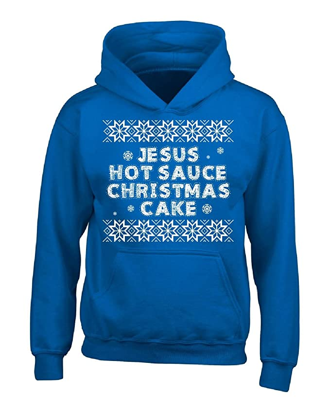 Amazon.com: Jesus Hot Sauce Christmas Cake - Adult Hoodie: Clothing
