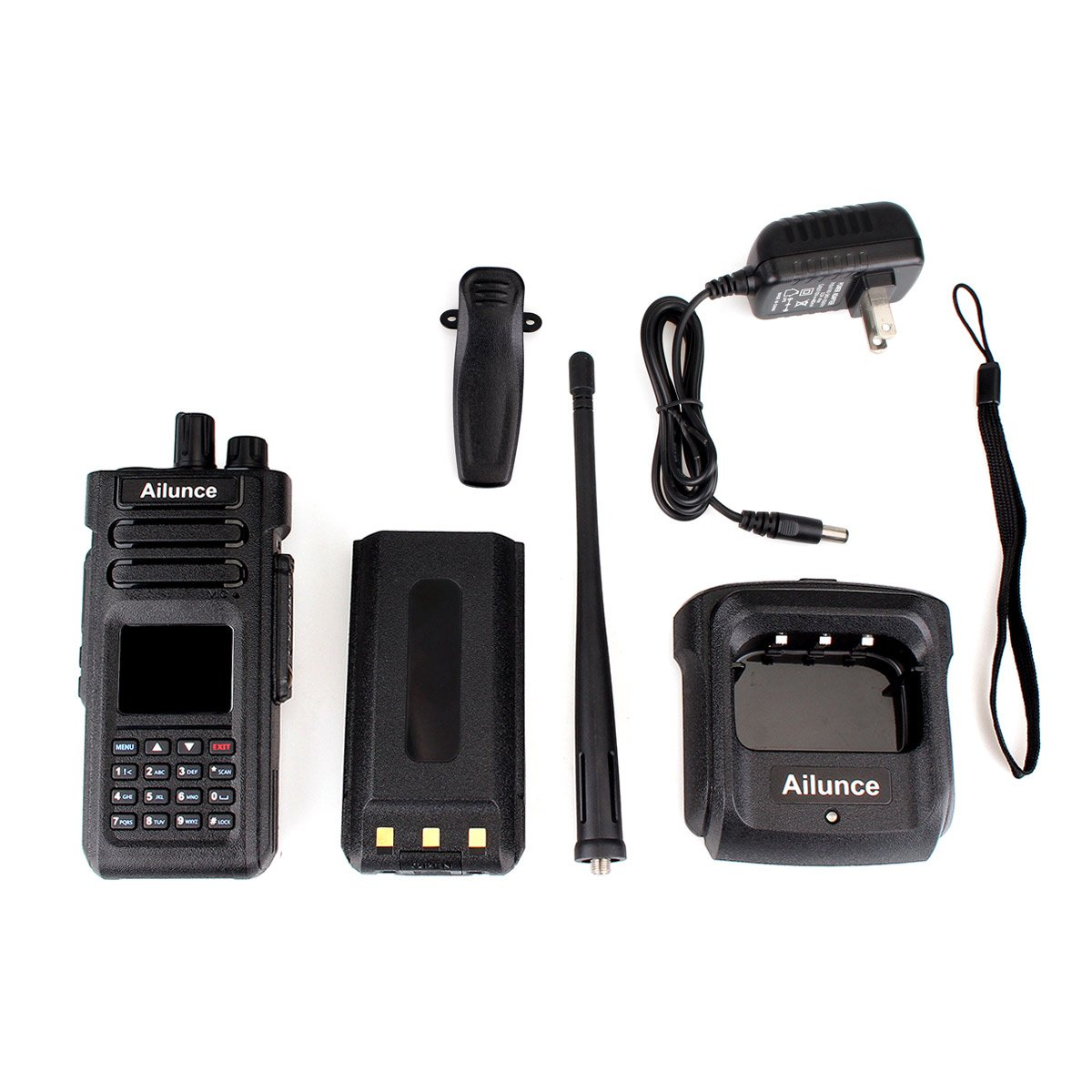 Ailunce HD1 DMR Digital Ham Radio Dual Band Dual Time Slot 10W 3000Channels 100000 Contacts 3200mAhz Waterproof long Range Two Way Radio with FM Function and Programming Cable(Black,1pack) by Ailunce (Image #8)