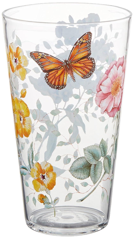 Set of 4 Lenox 866237 Butterfly Meadow Acrylic DOF Glass Multicolor