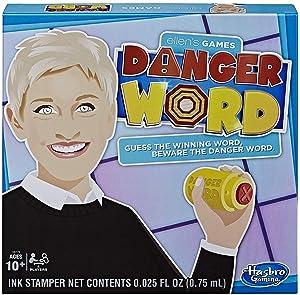 Hasbro Gaming Ellen's Games Danger Word Game; Ellen Degeneres Game for 4 Players Ages 10 & Up
